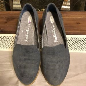 Dr Scholls Blue Suede Loafers